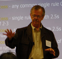 James O. Westgard, lecture during workshop